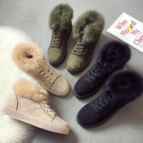 ベルベット ファースニーカー 韓国ファッション ファー ファーシューズ 暖かい 防寒 秋冬 もこもこ 歩きやすい 痛くない 可愛い 韓国 レディース DTC-561186882791
