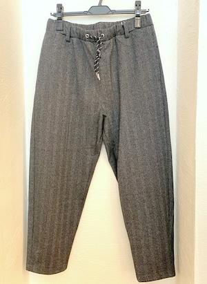 Herringbone JQ Sarouel Tapered Pants Gray