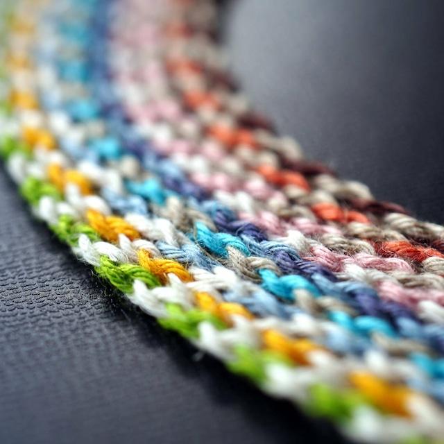 四つ編みヘンプ紐 [バイカラー] 全9色