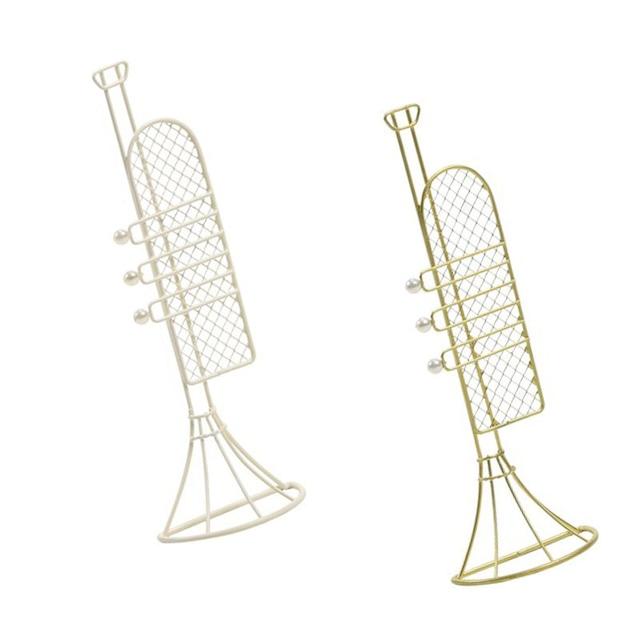 ワイヤートランペット 半立体型 ゴールド/ホワイト