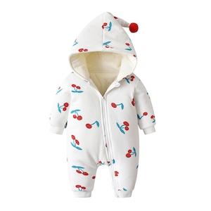 冬 ベビー服 ロンパース 子供服 キッズ 赤ちゃん服 厚手 裏ボア 裏起毛 防寒 コート 男児 女児 アウター 子ども服1530