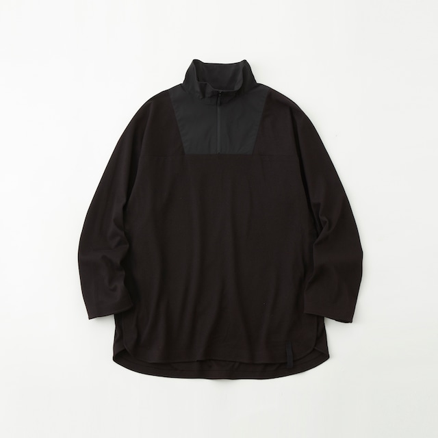 SOLOTEX FLANNEL PULLOVER SHIRT - BLACK