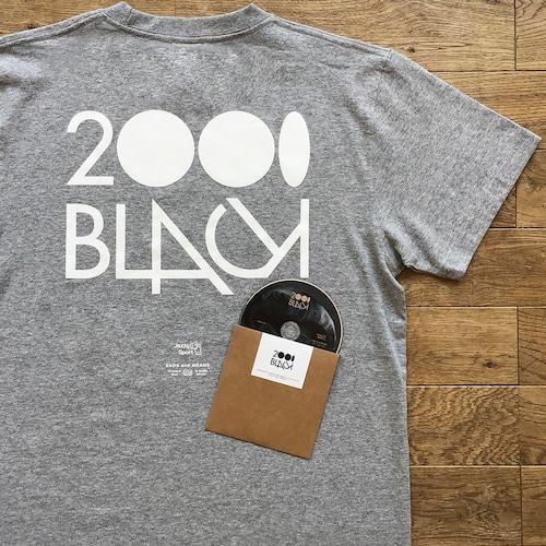 【ラスト1】2000Black × Ends and Means × Jazzy Sport Tシャツ/グレー(Mix CD付き)