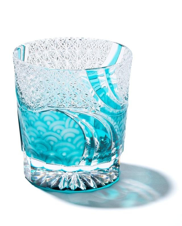 江戸切子 波動(全5色)オールドグラス