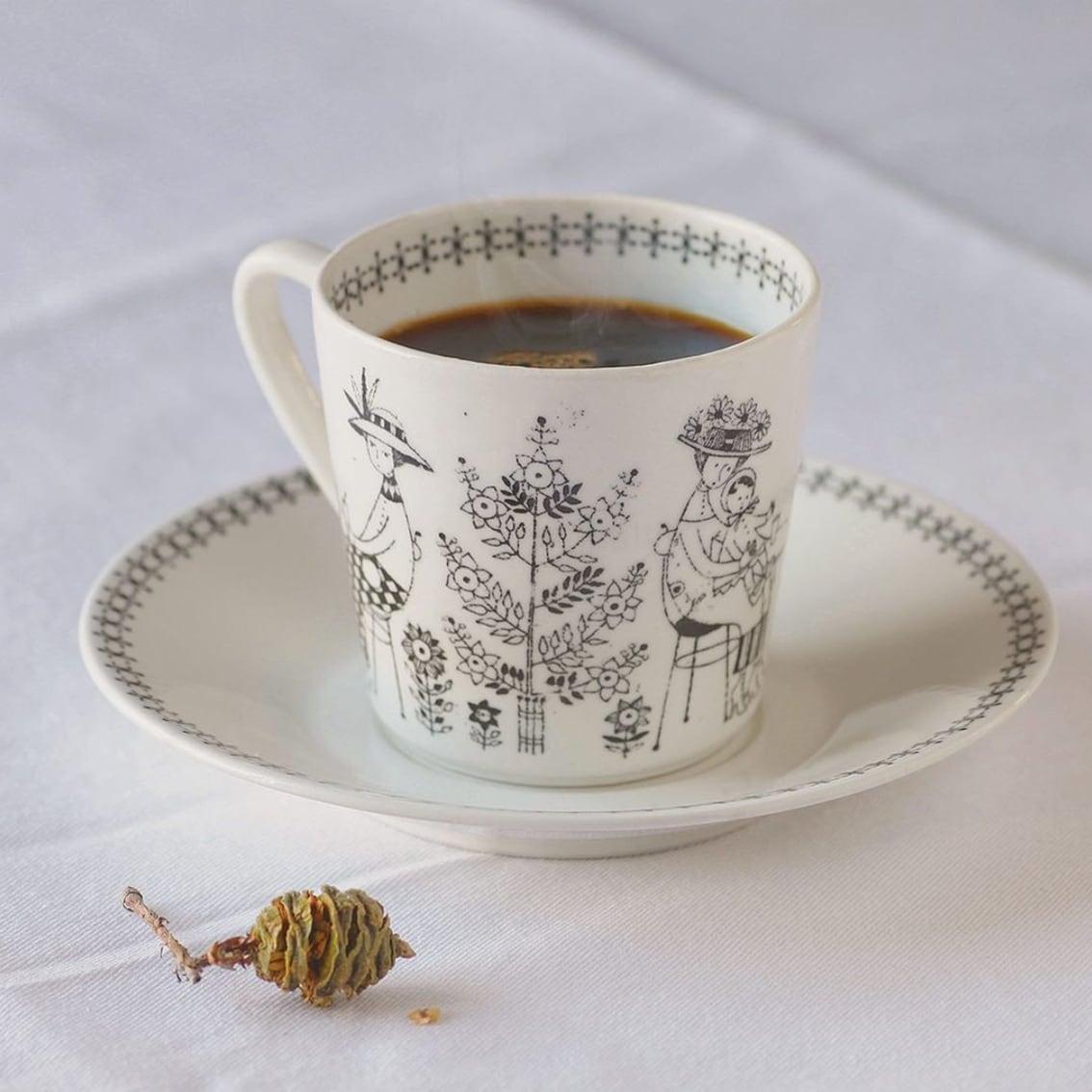 ARABIA アラビア Emilia エミリア コーヒーカップ&ソーサー -1 北欧ヴィンテージ