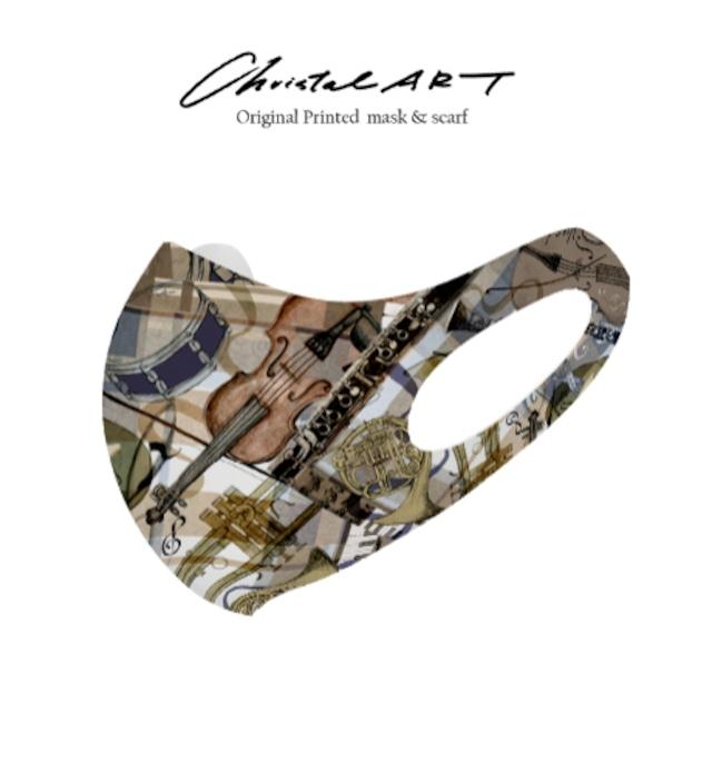 ◆即納◆オリジナルプリントマスク◆楽器・ハーモニー柄