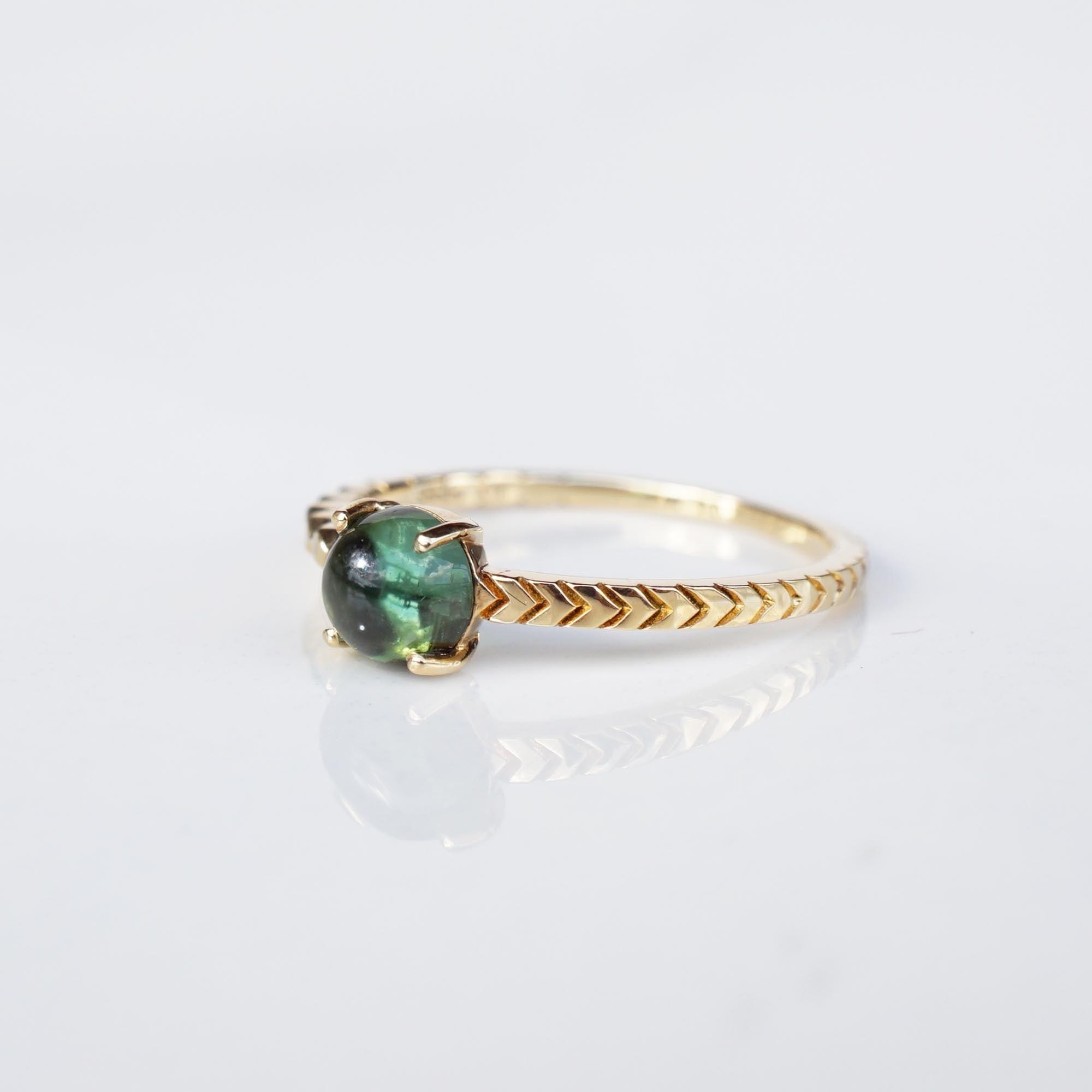 Green Tourmaline Ring(R242-GT)
