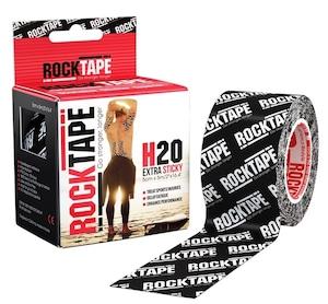 ロックテープH2O(耐水性PRO)ブラックロゴ / ROCKTAPE H2O Black/White logo