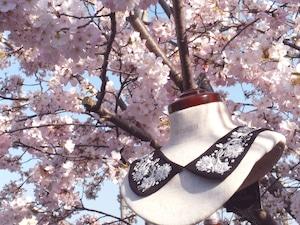 【京都の御室桜をイメージ】IS-003 立体花刺繍付け襟