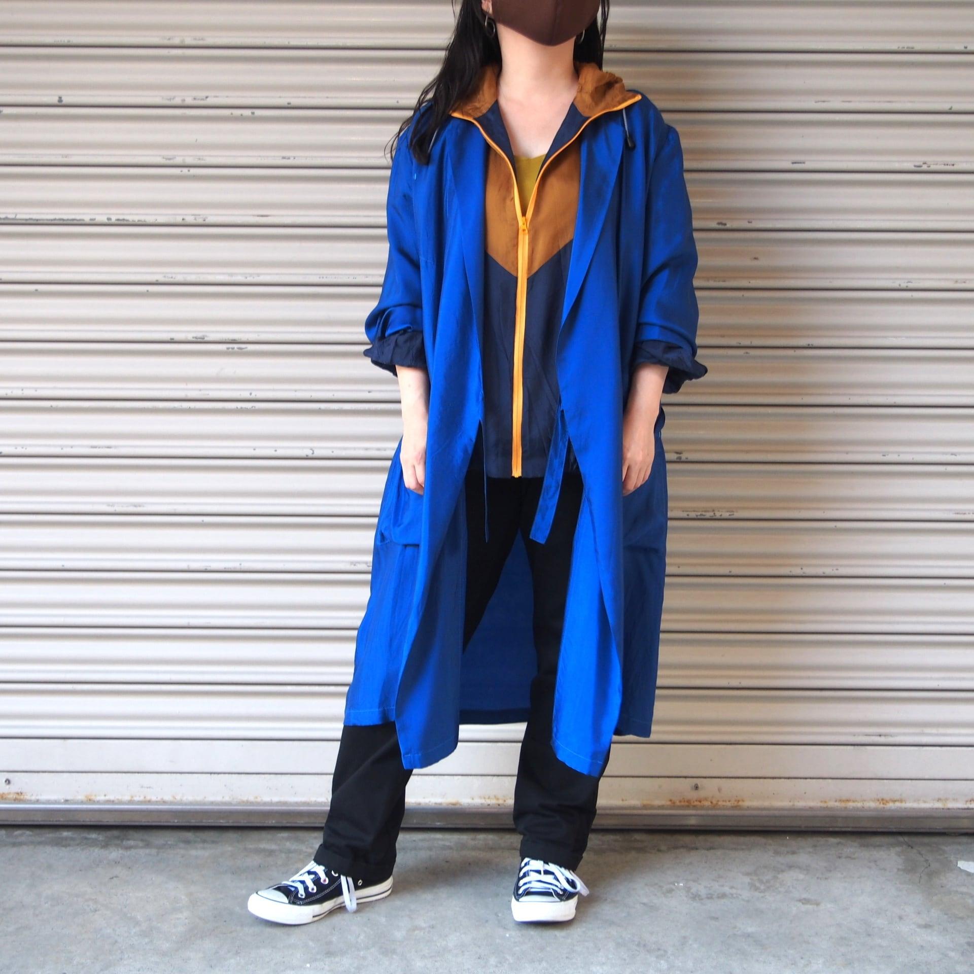 【hippiness】cupro coat(blue)/【ヒッピネス】キュプラ コート(ブルー)