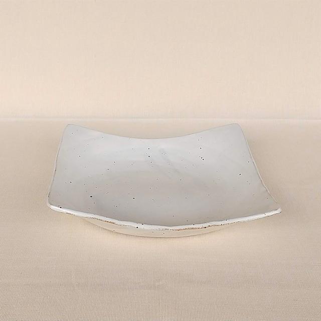 桜窯 白 マット 角鉢