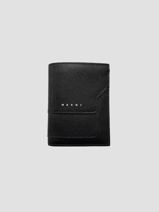 MARNI BILLFOLD W/COIN PURS BLACK/BLACK PFMI0046U0LV520Z356N