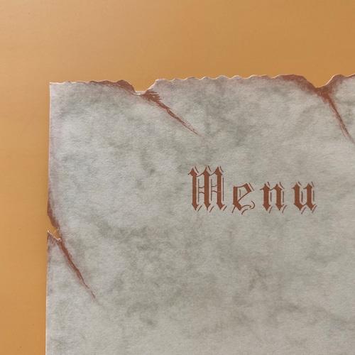 France  menuカード・羊皮紙風  3枚セット / vp0172