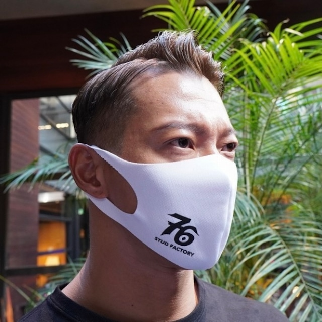No,76 logo dry fit mask (WHITE)
