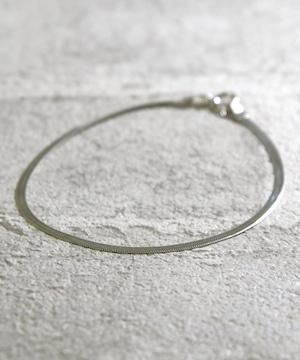Y1812KHBTQLCGE0【YArKA/ヤーカ】silver925 simple flat blacelet[SNK]/シンプルフラットブレスレット