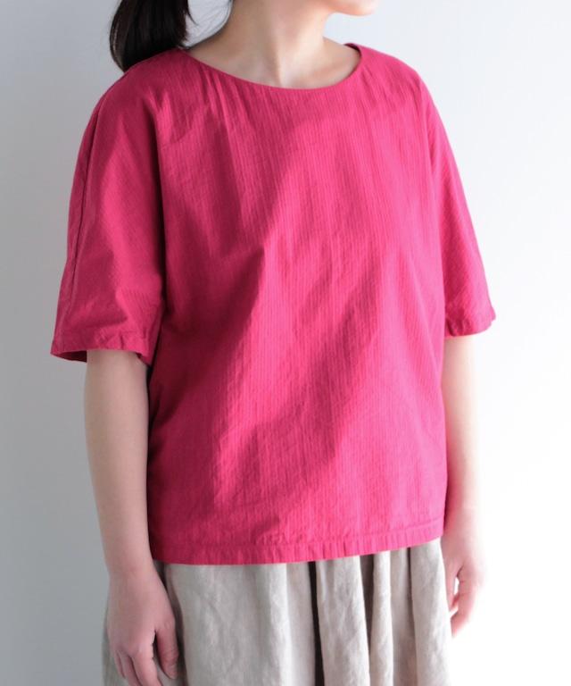 【製品染め】袖下にマチを付けたプルオーバーブラウス(evi931 RED/レッド・GRY/グレー・BLK/ブラック)