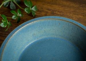 SHIROUMA 浅鉢 18cm 青(深皿・スープボウル・グラタン皿・耐熱皿)/長谷川 哲也