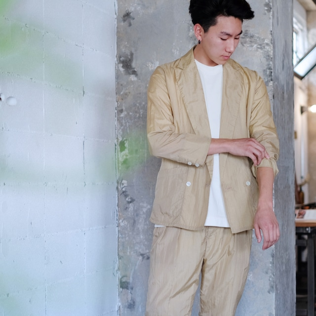 Double breasted over jacket  [ Beige ]