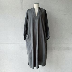 【COSMIC WONDER】Beautiful silk cotton v-necked dress/17236-1