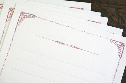 装飾活字Mini Stationery Paper  all Antique-51- 【ワイン】