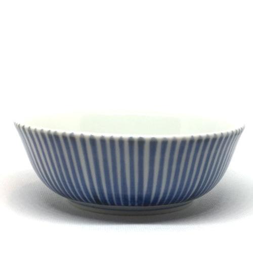 【砥部焼/梅山窯】4.7寸平鉢(十草)
