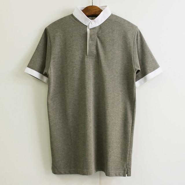 TOM SIMPSON トム・シンプソン イギリス製 スタンドカラー 半袖ラガーシャツ