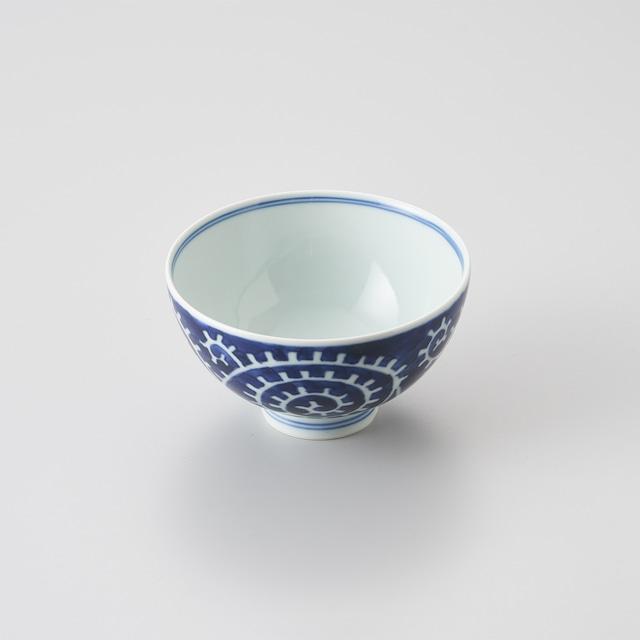 """【青花】""""Classic"""" 3.5寸丸飯碗(たこ唐草濃)"""