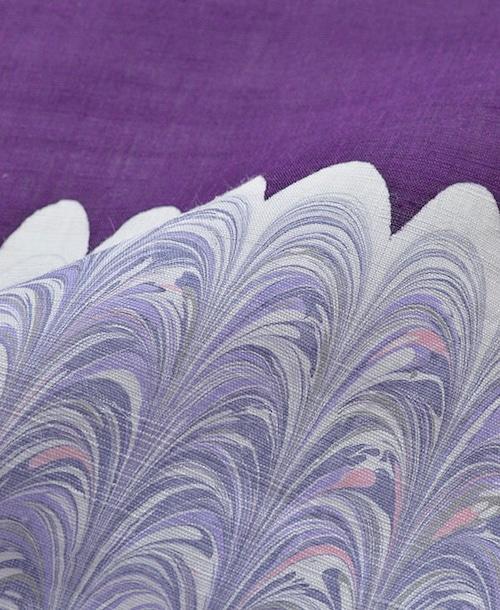 名古屋帯【墨流し】深紫