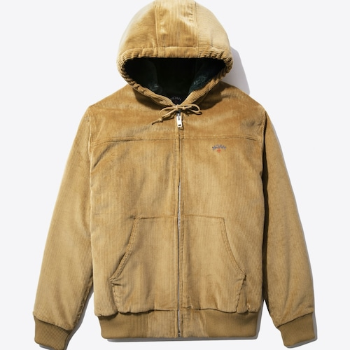 Corduroy Hooded Bomber(Fawn)