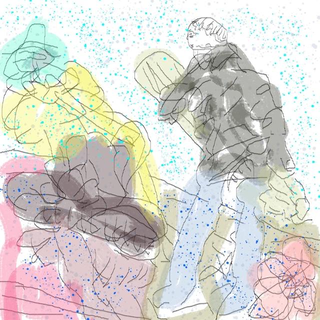 絵画 インテリア アートパネル 雑貨 壁掛け 置物 おしゃれ アブストラクトアート ロココロ 画家 : YUTA SASAKI 作品 : I can hear the music