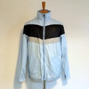 Pocketable Nylon Zip Blouson Blue