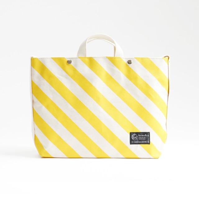 shoulder tote bag/dandelion × stripe ショルダートート/ 蒲公英 x 縞