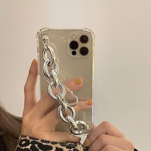 シルバーチェーンストラップiPhoneケース S3882