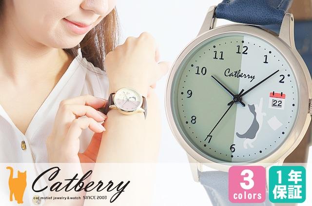 腕時計 猫めくりカレンダー