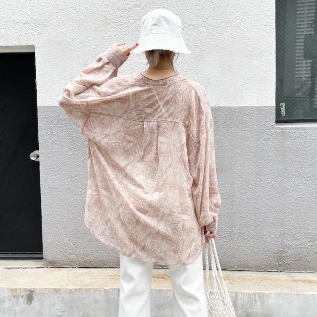シアーマーブルシャツ