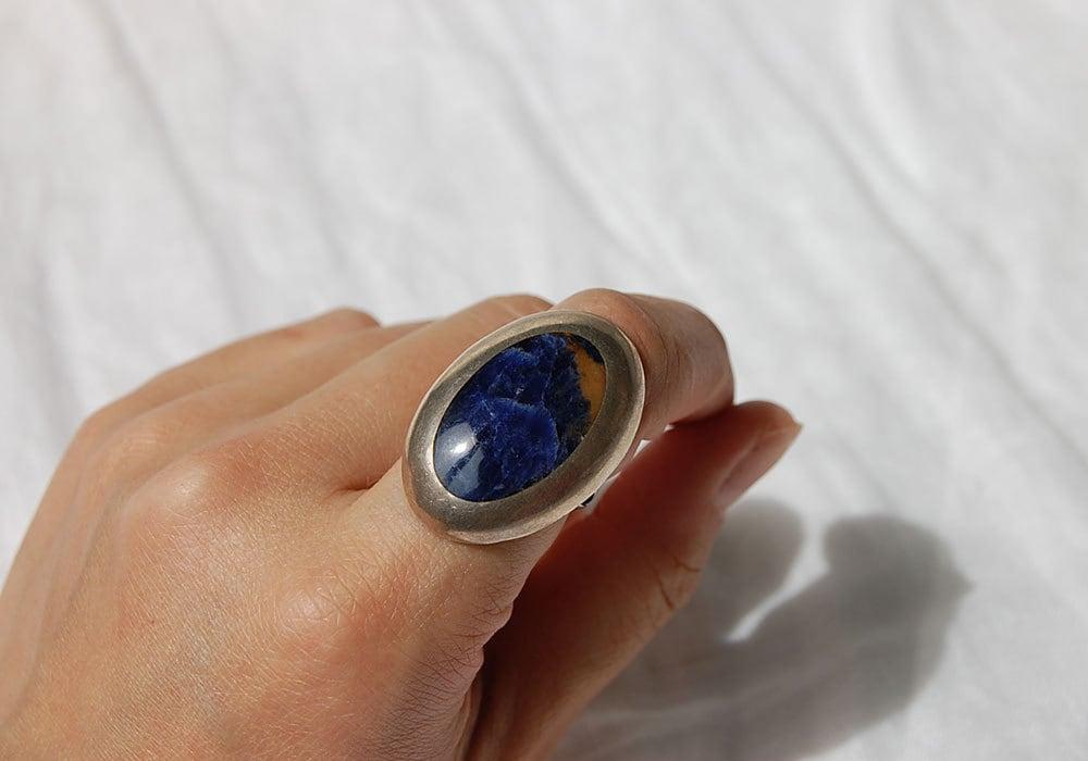 vintage blue oval ring