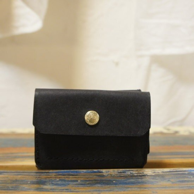 SARANAM(サラナン) NEWコンパクト3つ折り財布 BLACK