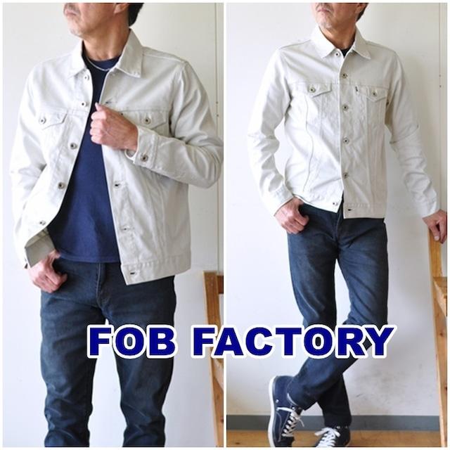 FOB FACTORY (FOBファクトリー)  F2366  ピケ 3rd ジャケット / Gジャン / メンズ / 日本製 / PIQUE 3rd JACKET / サードモデル