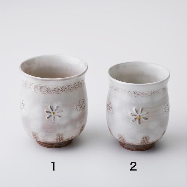 """京焼湯呑「花三島」 Kyo-ware cup""""HANA MISHIMA"""""""