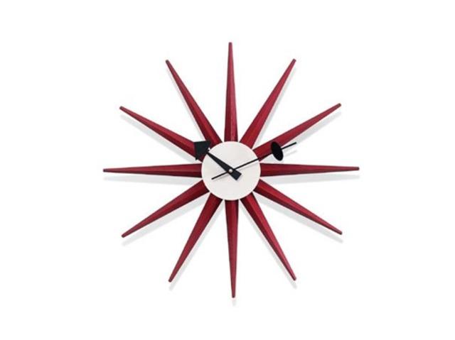 【Vitra Design Museum】Sunburst Clock 【Red】