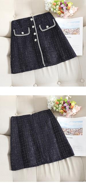 全3色ツイードスカート