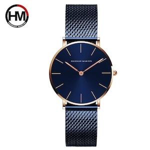 ステンレススチールバンドクォーツムーブメント防水女性フルローズゴールドレディース高級腕時計CL36-WFL