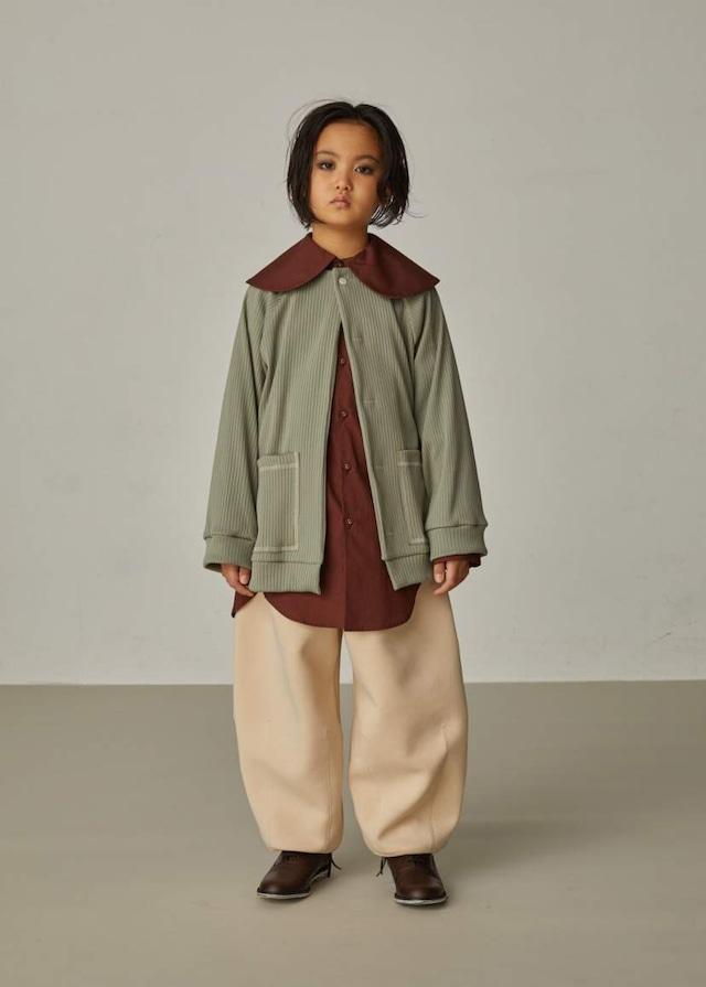 【21AW】GRIS ( グリ )Puritan Collar Shirt[S / M]Umber シャツ