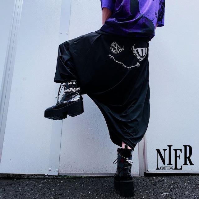 BLACK SARROUEL PANTS【ANGRY】