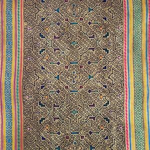 シピボ族刺繍大判 腰巻きAAA 64x151cm 先住民族の工芸布 天然素材 タペストリー 刺子