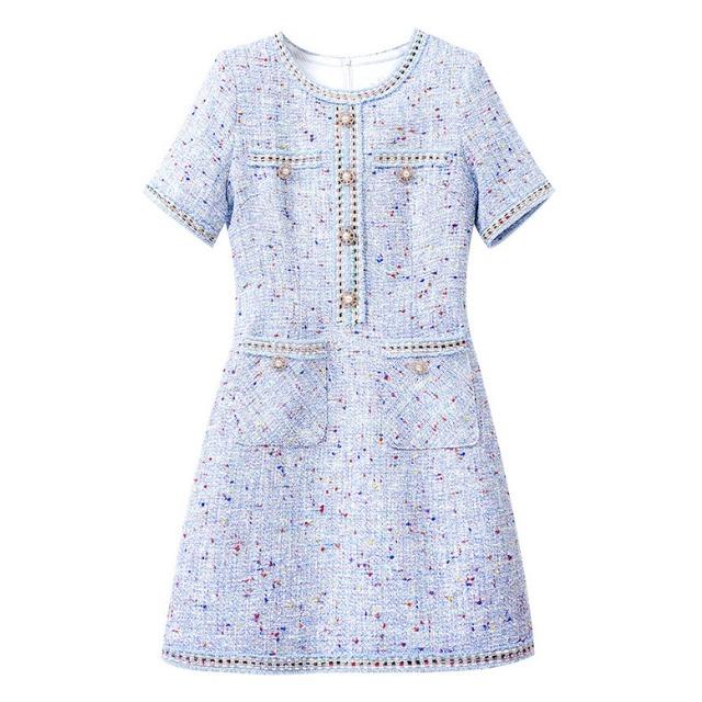 パール ツイード ショート ドレス【R1283】