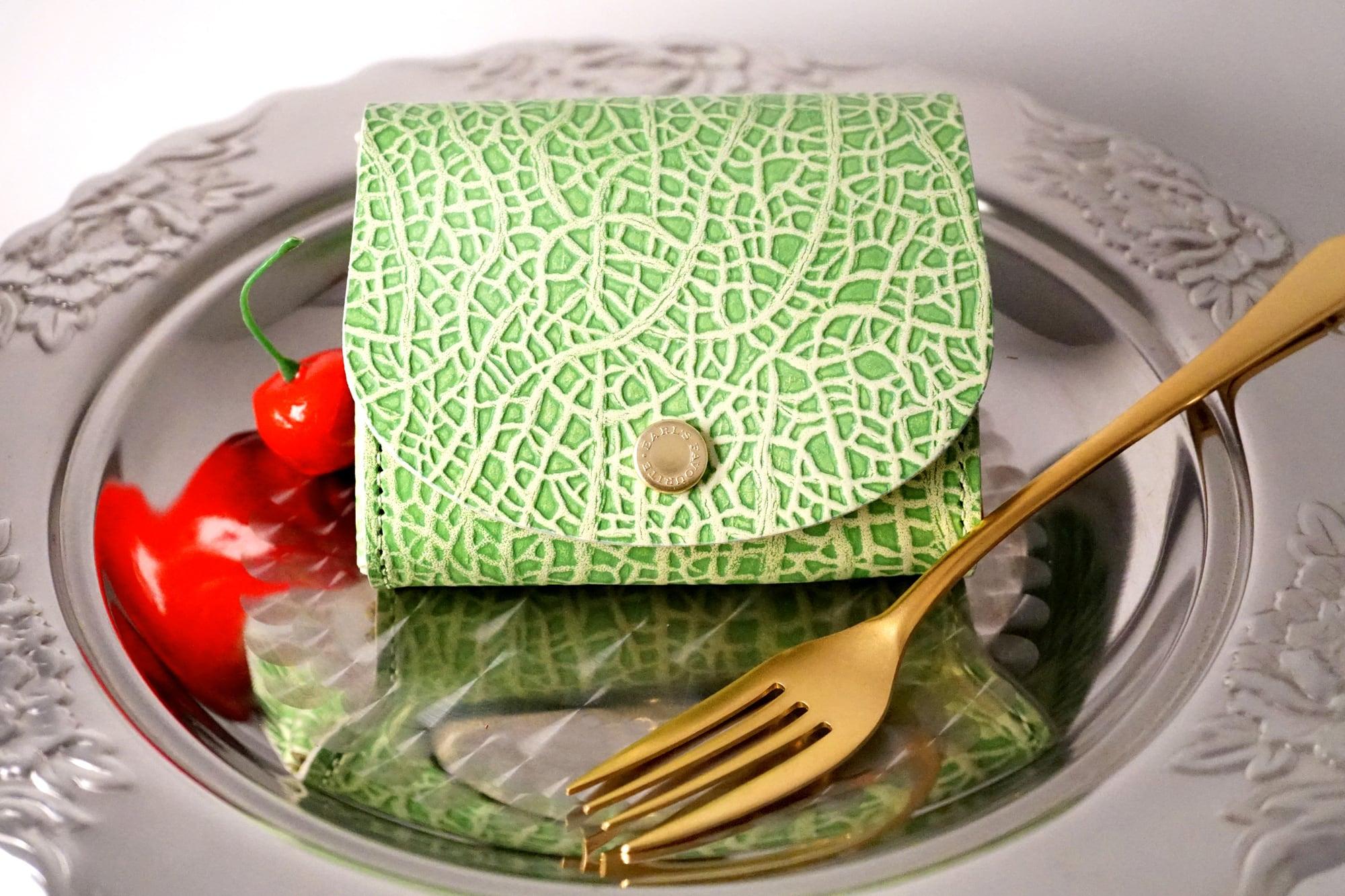 メロンなコンパクト財布(牛革製)