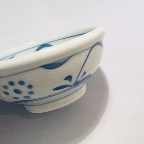 【砥部焼/梅山窯】5寸玉縁鉢(太陽)