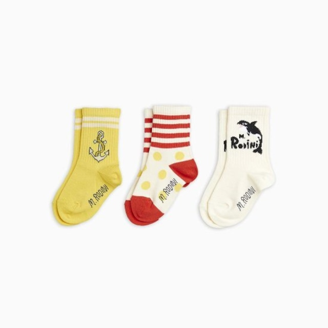 【21AW pre】minirodini( ミニロディーニ )Orca 3pack  socks  靴下