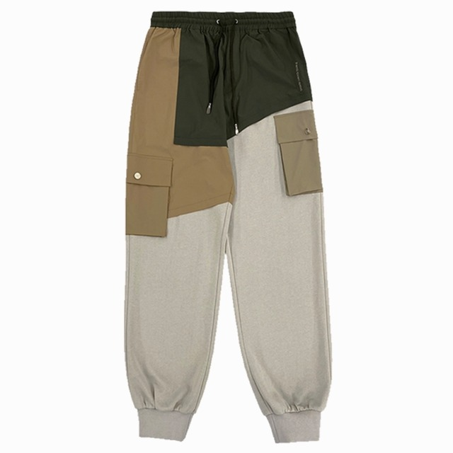 FENG CHEN WANG / FRENCH TERRY PANELLED SWEAT PANTS